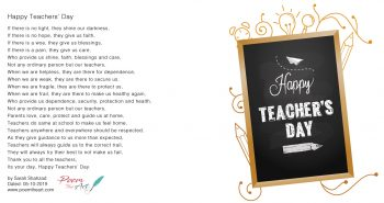 Happy Teachers' Day poem