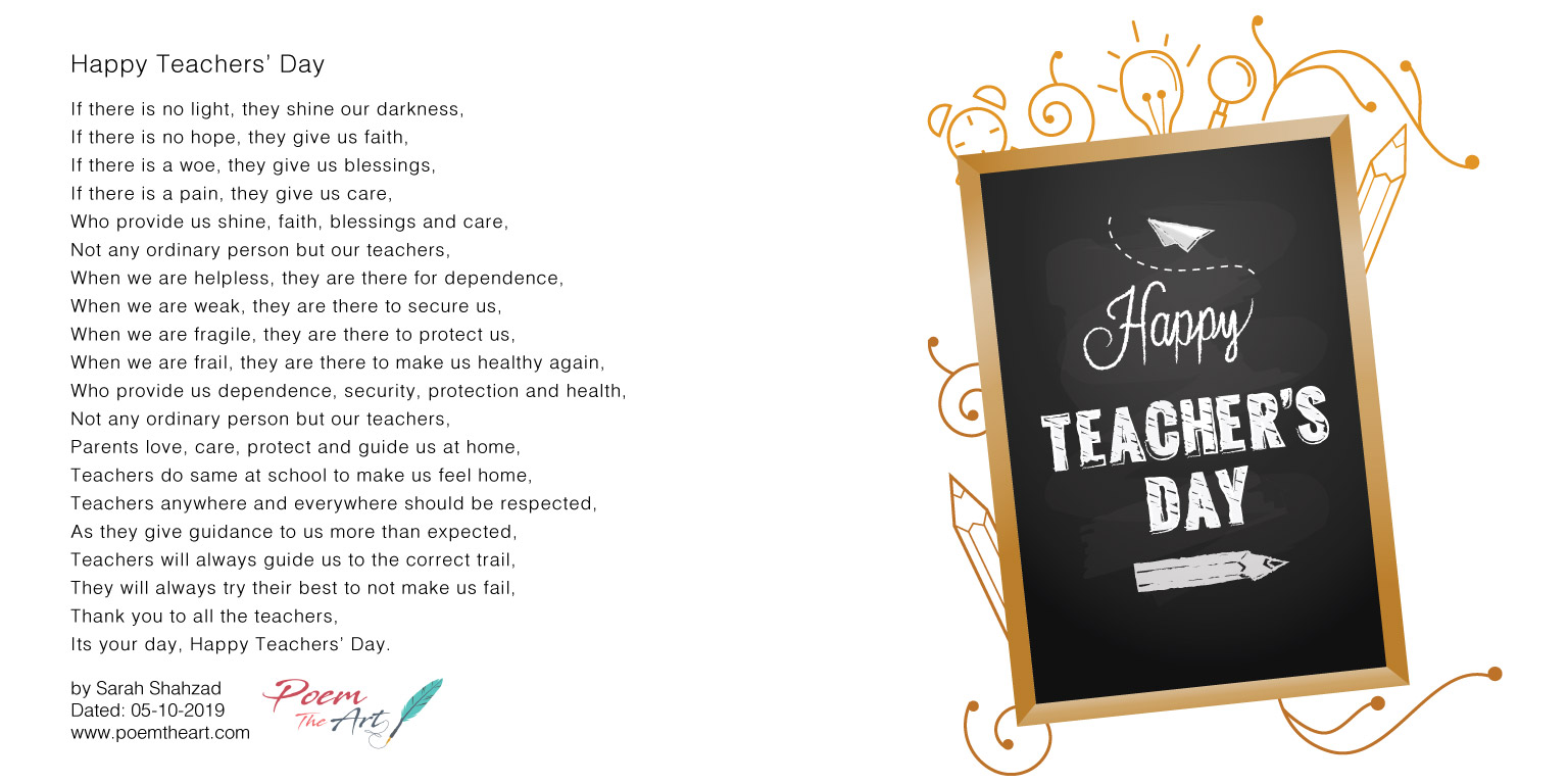Happy Teachers' Day poem
