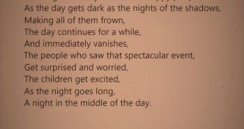 Solar Eclipse, Poem on Nature