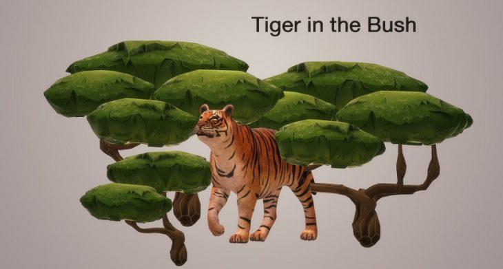 Tiger in the bush